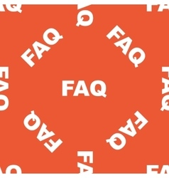 Orange faq pattern vector