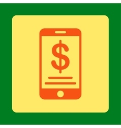 Mobile wallet icon vector