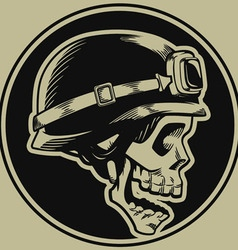 Retro Motorbike Skull Biker Badge vector image
