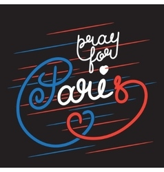 Paris color lettering vector