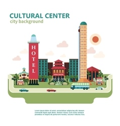 Cultural center city background vector