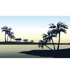 Tropical sea landscape vector