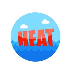 Heat icon summer vacation vector