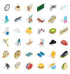 award icons set isometric style vector image