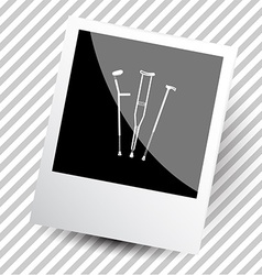 Crutches vector