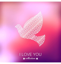 dove Valentines Day background Pigeon Blurred vector image vector image
