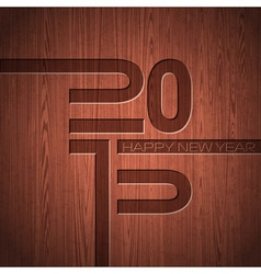 Engraved 2015 Happy New Year typographic design vector image vector image