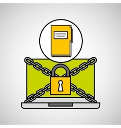 File security internet technology vector