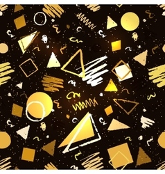 Gold and black geometric pattern vector image vector image