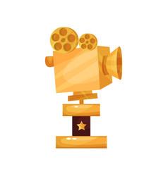 golden film award prize for the best filming vector image vector image