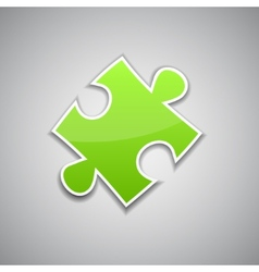 Green puzzle vector image vector image