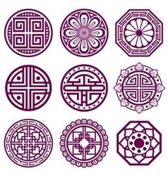 Korean ornament asian traditional symbols vector image