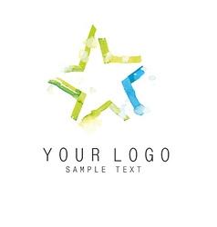 Logo star vector