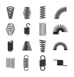 metal spring icon vector image vector image