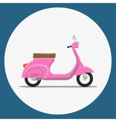 Moped Flat vector image vector image