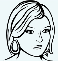 Portrait of a beautiful girl vector image