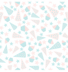 seamless pattern for birthday present vector image vector image