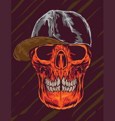 Skull caps vector