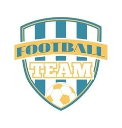 Soccer sign logo badge vector