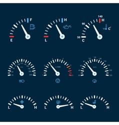 Speedometer interface icons vector