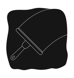 Squeegee icon in black style isolated on white vector