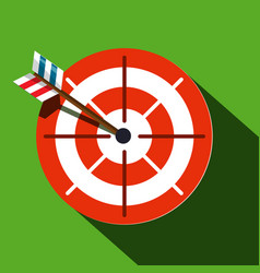 target symbol red and white circle with arrow on vector image