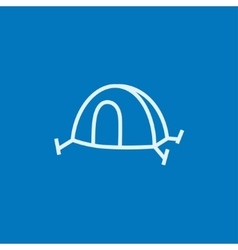 Tent line icon vector image vector image