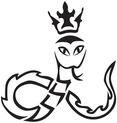 tribal A snake with a crown vector image vector image
