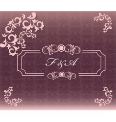 Vintage card with floral ornament vector