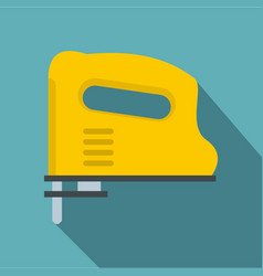 yellow pneumatic gun icon flat style vector image vector image