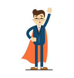 Young businessman in superhero cloak vector
