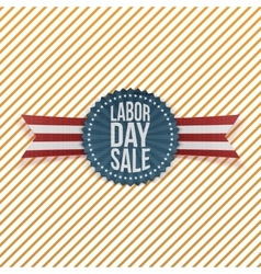 Labor day sale textile emblem vector