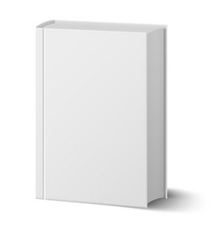 Blank vertical book with hard cover template vector