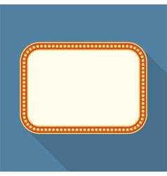Flat Retro Banner vector image