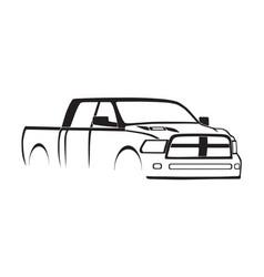 4th gen ram mega cab silhouette vector