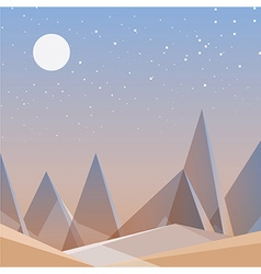 Smooth polygonal landscape design vector