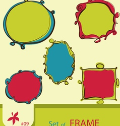 Set of retro style frame vector