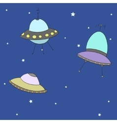 Cartoon ufo vector