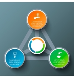 Triangle with circles for infographic vector
