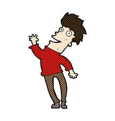 comic cartoon happy man vector image