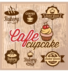 Bakery and cafe design elements vector