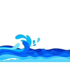 Graphic of ocean waves vector