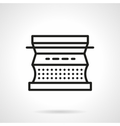 Typewriter black line design icon vector