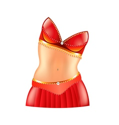 Belly dance icon isolated on white vector