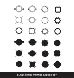 Blank contour badge emblem logo icon set vector