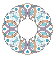 Colored mandala ornament isolated on white vector