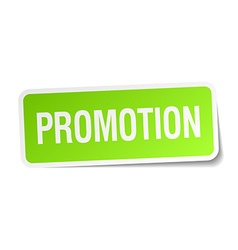 Promotion green square sticker on white background vector