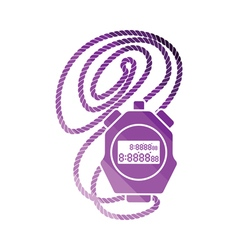 Coach stopwatch icon vector image