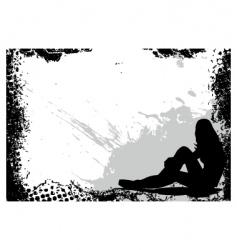 Grunge girl frame vector