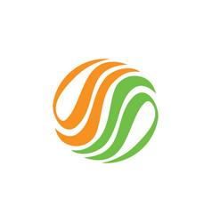 Abstract circle eco logo vector